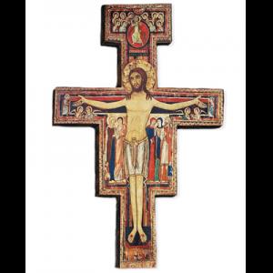 Crocifisso in legno con immagine Art. 4100 - 100x70