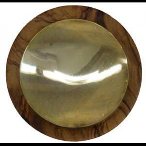 Patena in legno d'olivo Art. 236 - 14 Cm.