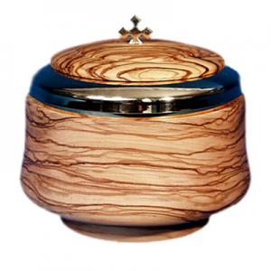 Pisside in legno di olivo Art. 406